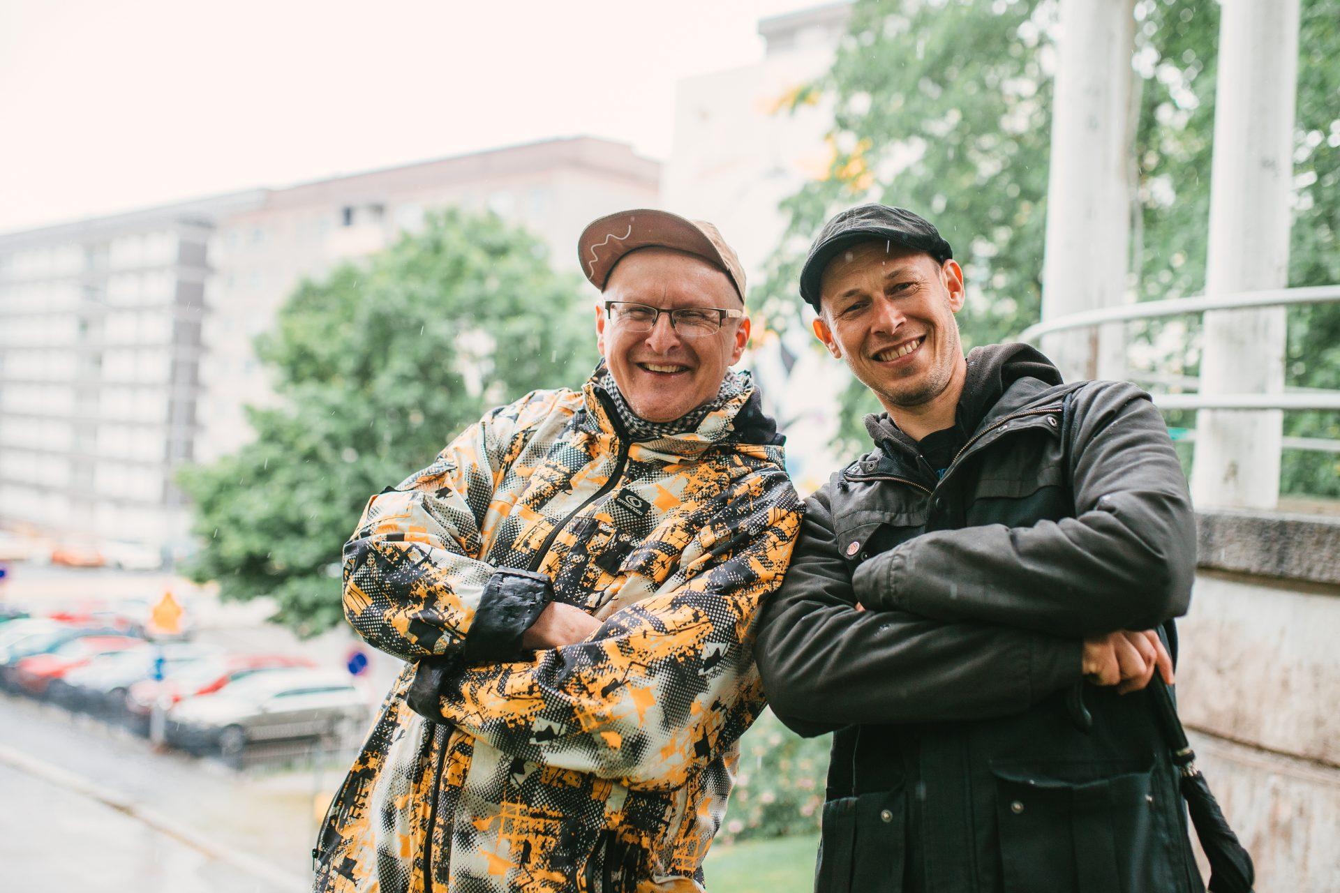 Kuvassa Simo Ollila ja Teemu Mäenpää