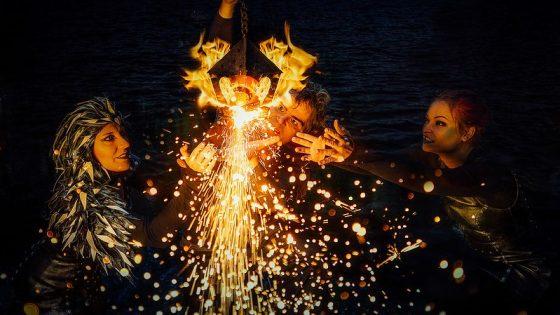 Kuva tulitaideyhdistys Flamman esityksestä.