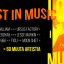 Lost in Music kaupunkifestivaalin tapahtumamainos, jossa nimetty esiintyjiä.